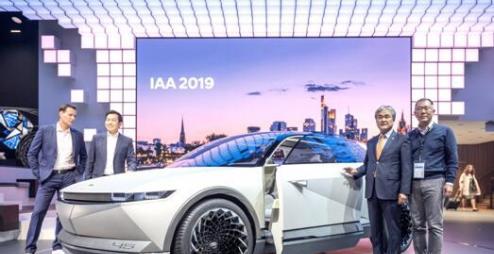 现代汽车EV概念车45亮相法兰克福车展