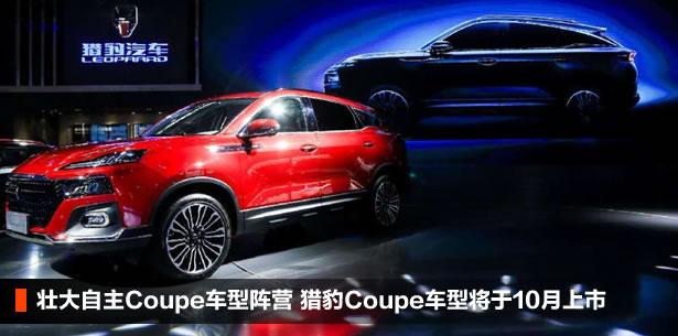 壮大自主Coupe车型阵营 猎豹Coupe车型将于10月上市